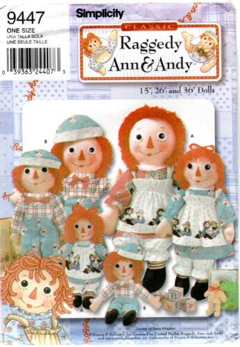 "CHOICE 36/"" DOLLS RAGGEDY ANN /& ANDY Craft Sewing Patterns Vintage Modern 10/"""