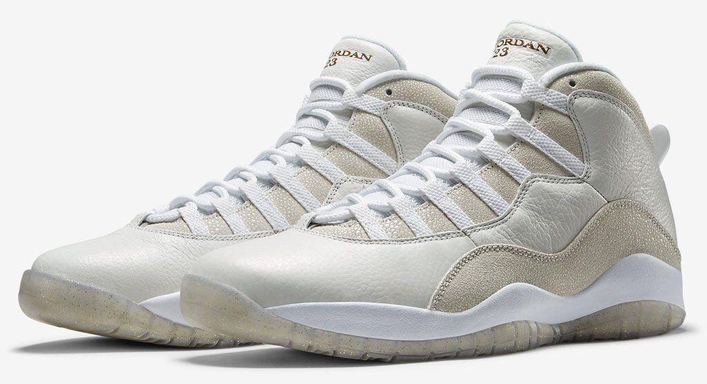 Nike Air Jordan 10 X Retro OVO Drake White gold Size 8. 819955-100