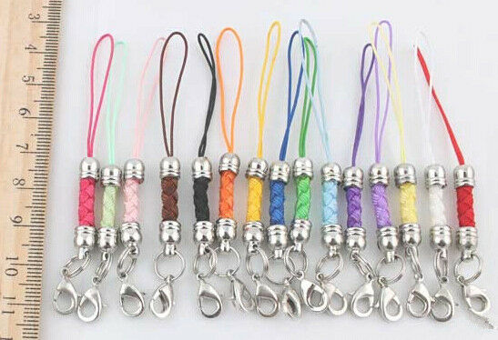 1set 15 pcs 15colors Mobile Cell Phone cords Strap Lariat Lanyard Lobster Clasp