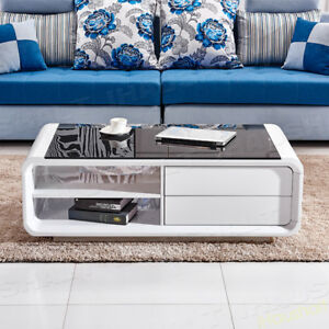 Modern-White-High-Gloss-Coffee-Table-Black-Tempered-Glass-Living-Room-Furniture
