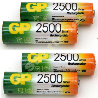 4 x AA GP Rechargeable 2600 mAh NI-MH Batteries phone  2600mAh