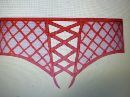 Ann Summers Mylie Crotchless Red Briefs Size Medium 12 14 NWOT