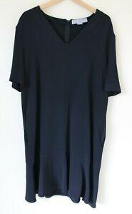 STELLA-MCCARTNEY-039-Ely-039-Dress-Black-Flared-UK-46-14-16-check-measurements