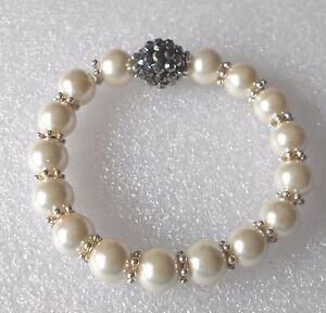 Handmade-Faux-Pearl-and-Disco-Bead-Bracelet