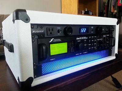 "Modern White Bronco Studio Rack Case 6U Tolex 19/"" x 16/""  Eleven Rack Axe FX"