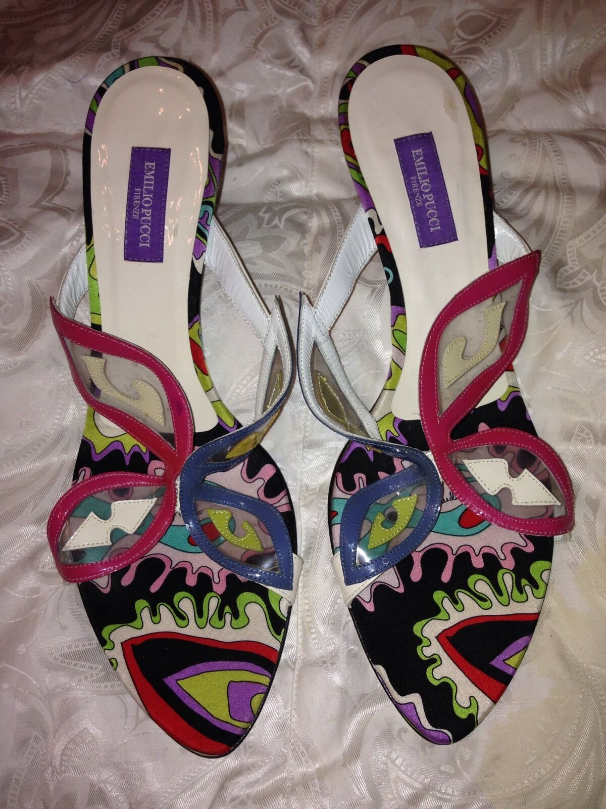 **NEW** EMILIO PUCCI PUCCI PUCCI Butterfly sandals mules slides size 38 8 b2c26b