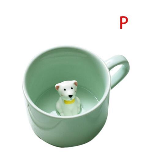 3D Tiere Tasse Kaffee Milch Wasser Becher Keramik Karikatur Tee Cup Neuheit