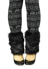 Winter Girls Women Boot Cuff Fluffy Furry Faux Fur Leg Warmers Boot Toppers