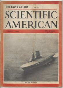 Scientific American Magazine March 1942 WWII Navy Aircraft Psychic Research