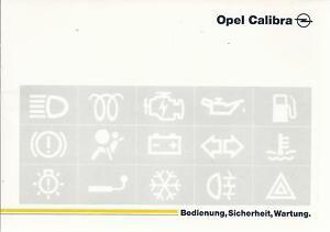 OPEL-CALIBRA-Betriebsanleitung-1995-Bedienungsanleitung-Handbuch-Bordbuch-BA
