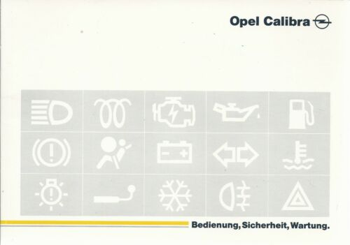 OPEL Calibra manuale di istruzioni 1995 MANUALE MANUALE bordo libro BA