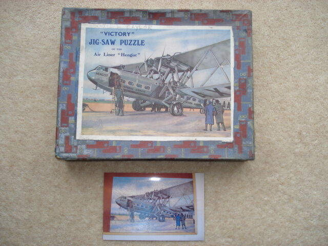 C1930S VINTAGE  VICTORY  JIGSAW OF THE AIR LINER  HENGIST  (IMPERIAL AIRWAYS)