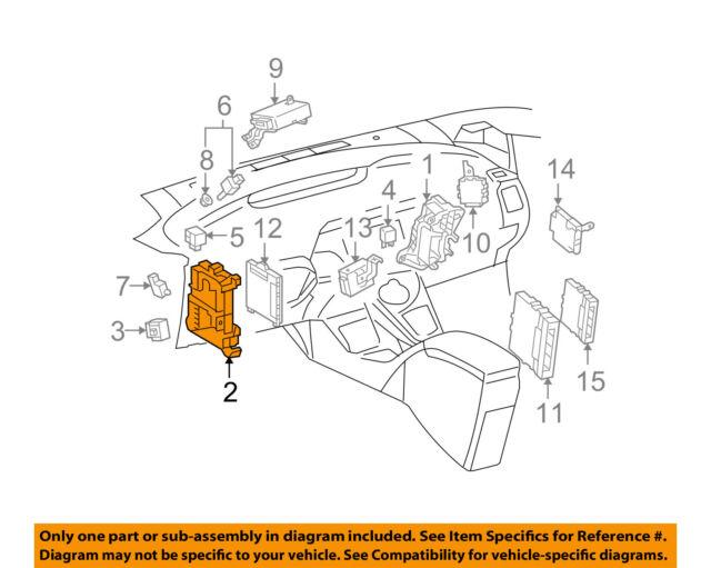 2010 2011 toyota prius hybrid dash junction block relay. Black Bedroom Furniture Sets. Home Design Ideas