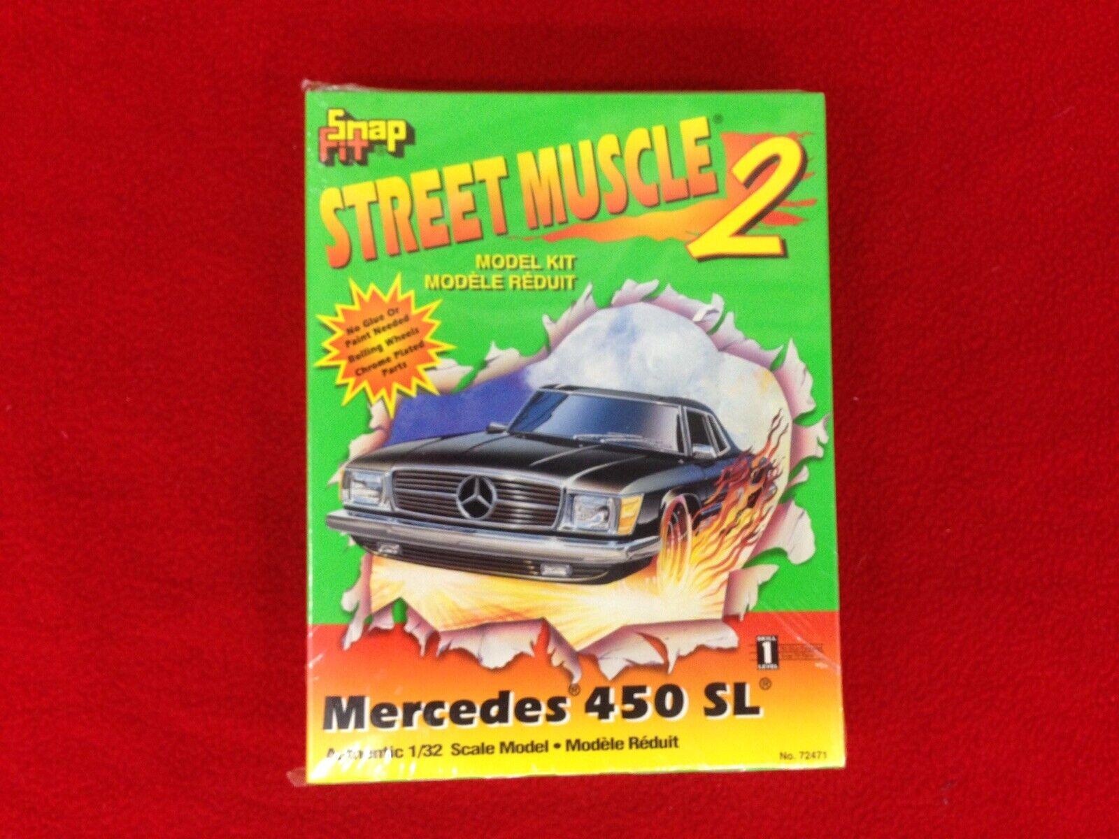 Lindberg snap fit street muscle 1 32 model kit Mercedes 450 SL vintage sealed