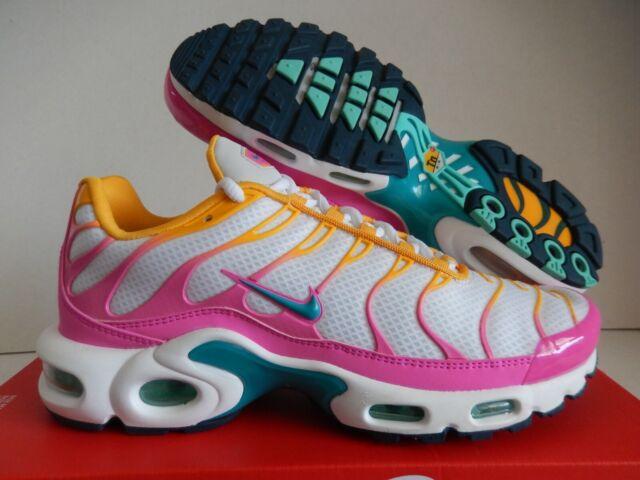 8.5 Women's Nike Air Max Plus White Pink Yellow Multicolor Cj9922 100 Running