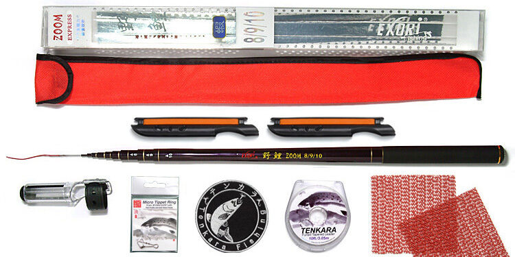Tenkara Style 10ft rod WDC with Furled Tapered leader  + Micro Tippet Rings Kit  large discount