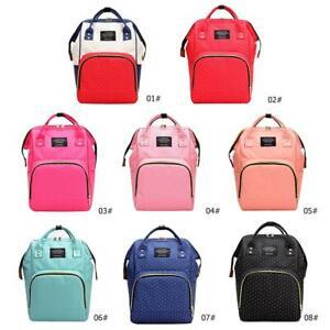 Dot Print Big Backpack Mommy Maternity Bags Travel Baby Nappy Diaper Bag Handbag