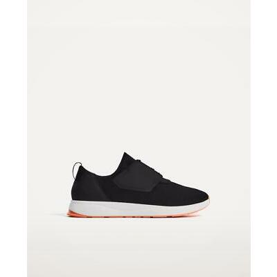 BNWT ZARA MAN BLACK LIGHTWEIGHT SNEAKERS WITH CONTRAST SOLE s.US 11 REF.2409/202