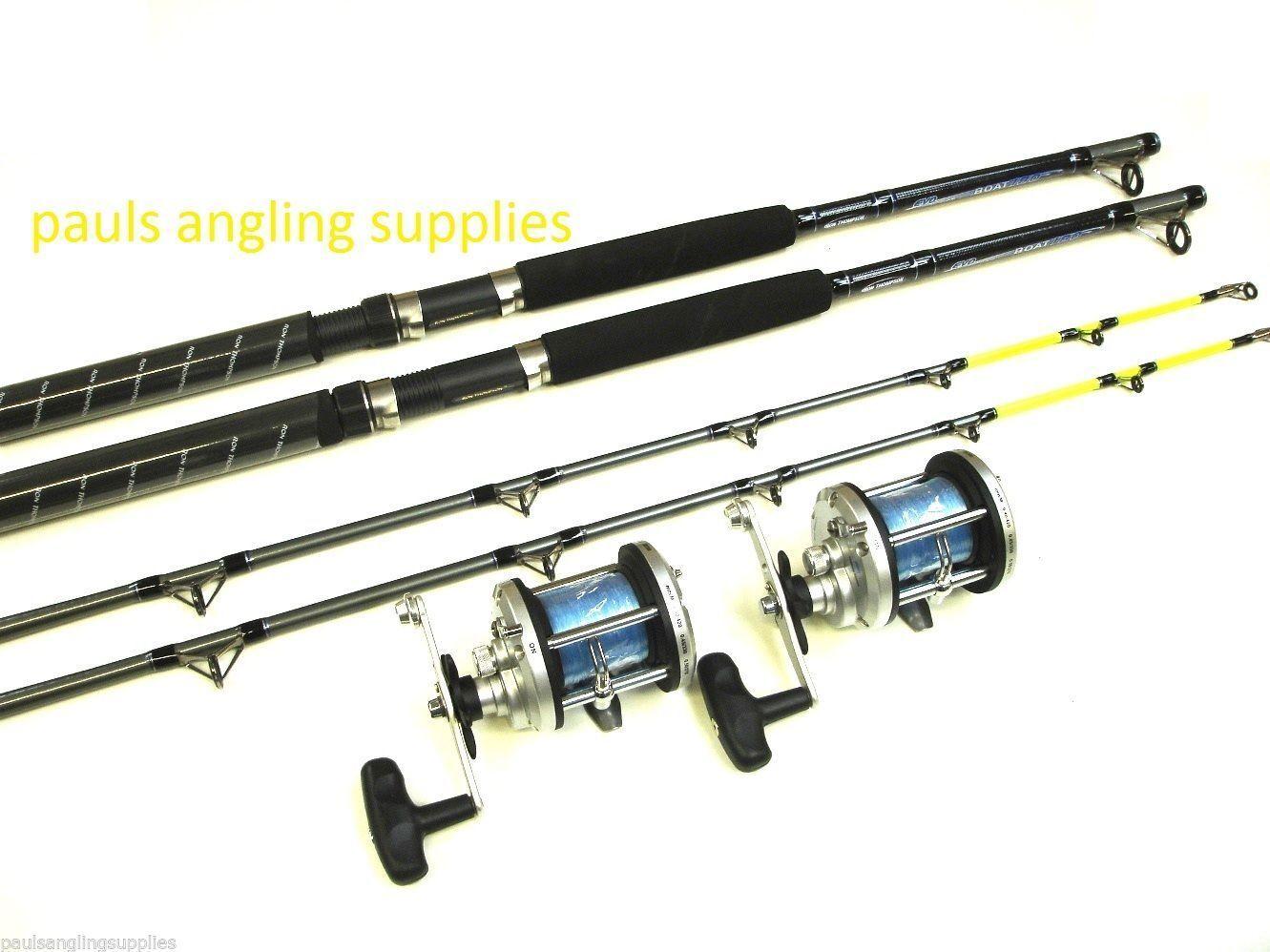 2  x Evo Concept 7 ft Boat  Fishing Rods & JD 500  Multiplier Reels