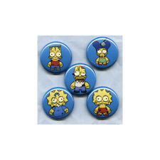 "ZOMBIE SIMPSONS 1"" PINS BUTTONS (kidrobot bart homer family guy futurama shirt)"