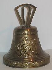 Glocke Tischglocke, Krone, Messing, im Nostalgie-Stil, 14x11cm