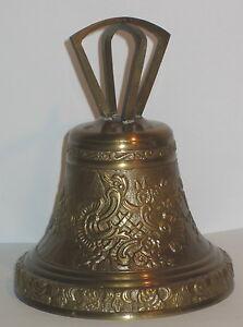 Handglocke Tischglocke Hotel-Rezeption-Glocke Messing Glocke Italy 11x6cm