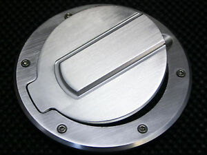 SHR Tru-Billet Fuel Door for F150-450 Super Duty and Dodge Ram Trucks-Chrome//4x4