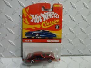 SERIES 1 HOT WHEELS CLASSICS LIMITED EDITION 1968 COUGAR #7 OF 25  RED