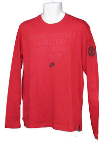 New-Nike-NSW-MANCHESTER-UNITED-Football-Club-Long-Sleeved-Cotton-Tee-Shirt-L