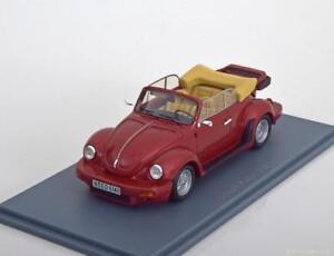 Vw Volkswagen Schult Rouge Kafer Métal Neo 46140 1/43 Coccinelle Rouge Cabriolet
