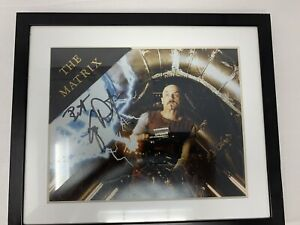 Framed-Joe-Pantoliano-Signed-Autograph-11x12-5-Cypher-In-The-Matrix