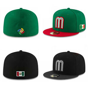 New Era 59Fifty Cap Mexico World Baseball Classic Fitted Hat Gray//Black