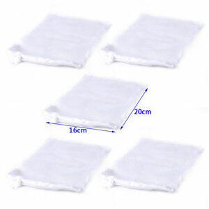 5-PCS-Nylon-Aquarium-Fish-Tank-Pond-Filter-Media-Zip-Mesh-Net-Bag-Zipper-White