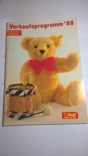 Verkaufsprogramm Steiff 1988 Puppen