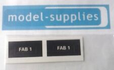 Dinky 100 FAB 1 reproduction number plate stickers