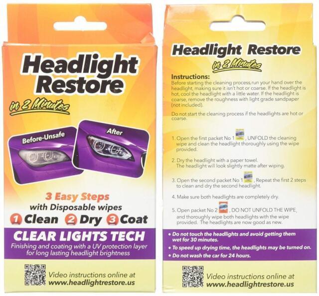 CLT Headlight Restoration Kit, Lens Cleaning Wipes