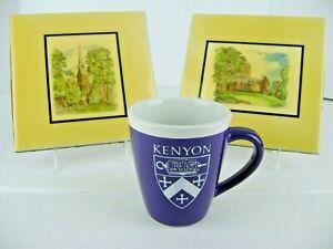 Kenyon-College-Memorabilia-Coffee-Mug-2-Art-Co-Ceramic-Tiles-Gambier-Ohio-LOT