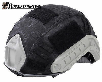 Airsoft Military Outdoor Paintball Tactical Helmet Cover for Fast Helmet Black A