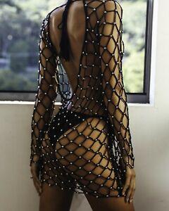 Women-Fishnet-Mesh-Bikini-Cover-Up-Bathing-Swimwear-Suit-Summer-Beach-Sexy-Dress