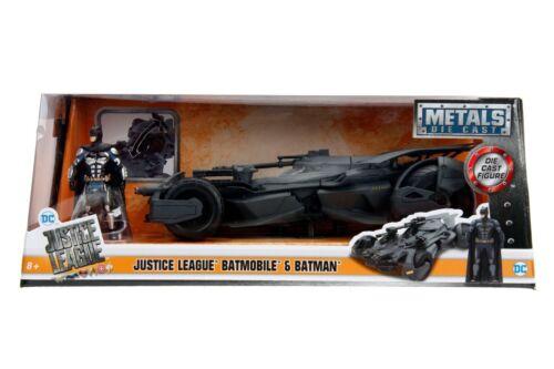 IN STOCK Jada Diecast Metal 1:24 Scale DC Justice League Batmobile W//Batman Fig