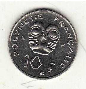Ensoleillé Polynesie Francaise 10 Francs 1983 Superbe ! Exquis (En) Finition