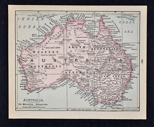 Map Of Adelaide Australia.Details About 1900 Mcnally Map Australia Sydney Melbourne Perth Brisbane Adelaide Botany Bay
