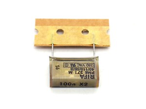 1x-RIFA-Kondensator-100nF-X2-275V-VAC-SH-PME271M-RM20-0-1-F-uF-AC-250V-P264