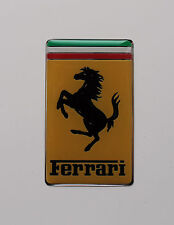 FERRARI BONNET BADGE Sticker/Decal - 50mm x 30mm HIGH GLOSS DOMED GEL FINISH