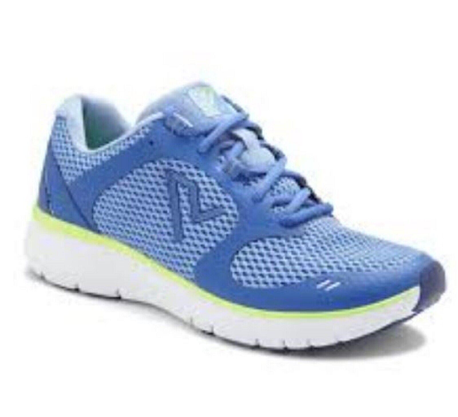 Vionic Orthaheel ELATION 1.0 Actif Baskets Chaussures Bleu Jaune Taille 7 M neuf dans boîte