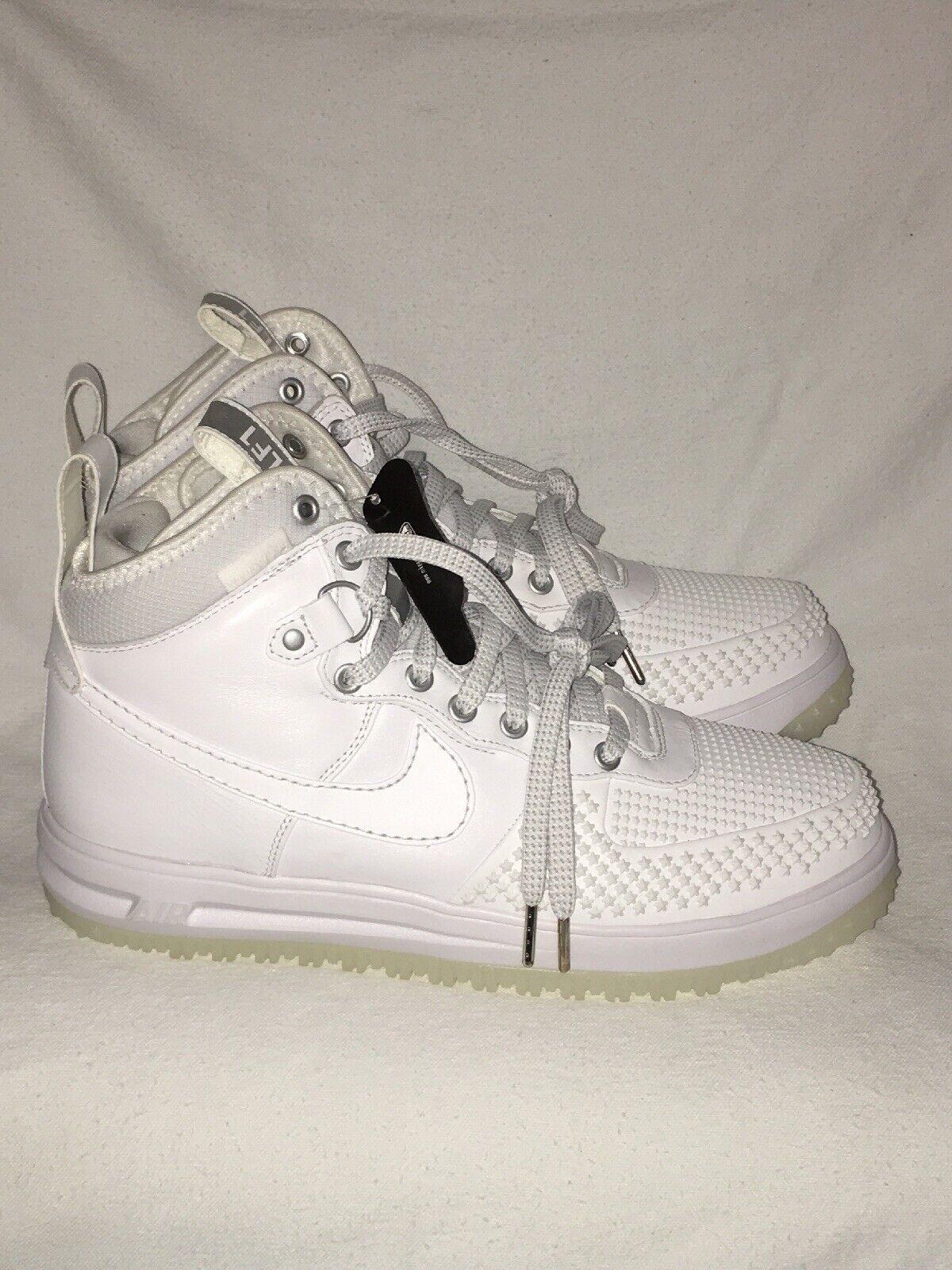 """Nike Lunar Force 1 LF1 Duckboot """"Triple White"""" Men's SZ 10 (805899-101)"""