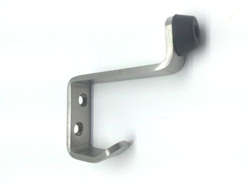5 x Modern Quality Buffered Hat /& Coat Hook in Satin Stainless Steel 4502