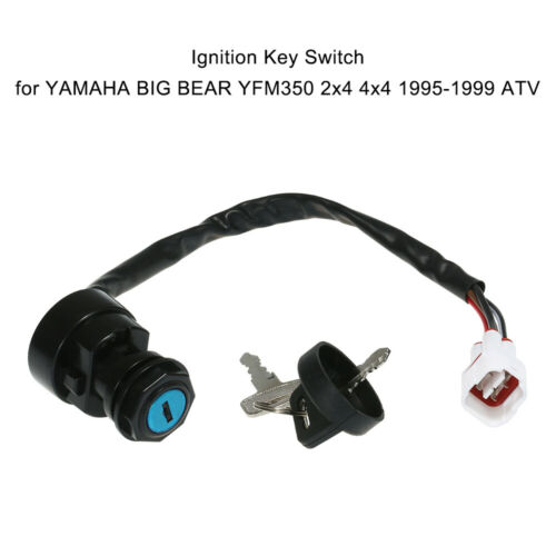 1x Ignition Key Switch For YAMAHA BIG BEAR YFM350 2x4 4x4 1995-1999 ATV A8O9