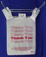 11.5 X 6 X 21 Thank You T-shirt Bags Plastic Retail Shopping Bags Only
