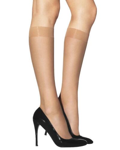 Lady Sofia 2 Pairs CAPRICE 20 Denier Sheer Knee High Pop Socks Glossy Finish